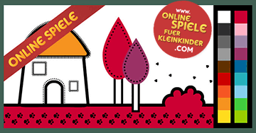 malen spiele f r kleinkinder haus anmalen. Black Bedroom Furniture Sets. Home Design Ideas